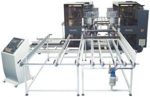Четириглава CNC чистачка за ПВЦ дограма