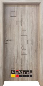 Немска интериорна врата Gradde Zwinger, модел Full, Дъб Вераде