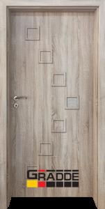 Немска интериорна врата Gradde Zwinger, модел 1, Дъб Вераде