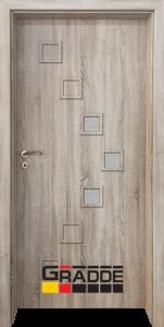 Немска интериорна врата Gradde Zwinger, модел 2, Дъб Вераде