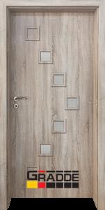 Немска интериорна врата Gradde Zwinger, модел 3, Дъб Вераде